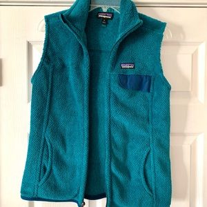 Patagonia fleece vest teal new size M